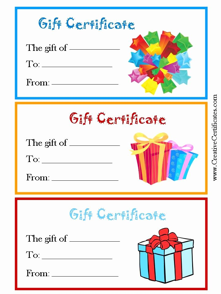 7 Best Of Free Printable Gift Certificate forms