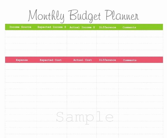 7 Best Of Free Printable Monthly Bud Planner