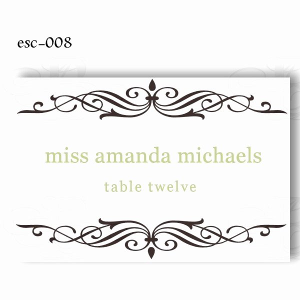 7 Best Of Free Printable Table Place Cards Template