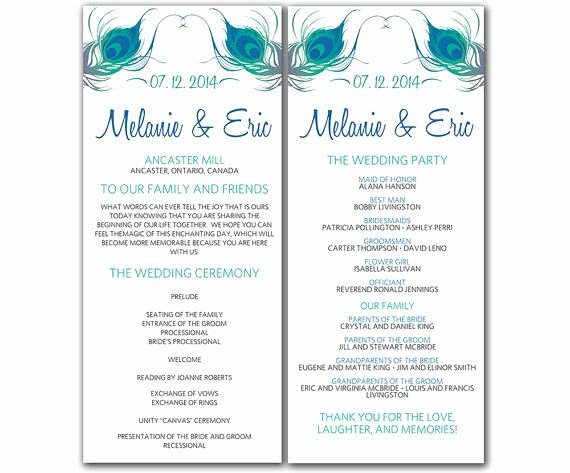 7 Best Of Free Printable Wedding Ceremony Programs