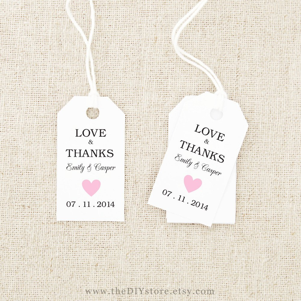 7 Best Of Free Printable Wedding Tags Templates