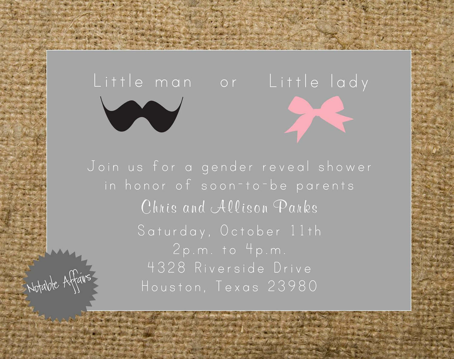7 Best Of Gender Reveal Bbq Party Free Printables