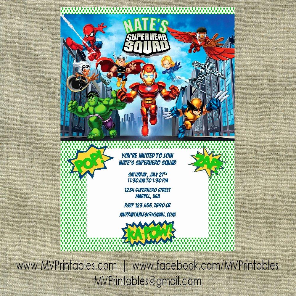 7 Best Of Marvel Super Hero Invitations Free