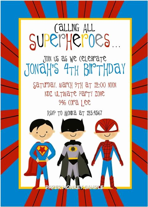 7 Best Of Marvel Super Hero Invitations Free