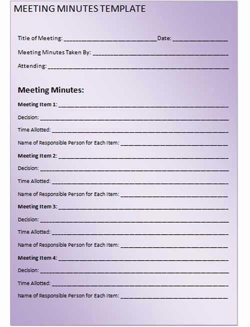 7 Best Of Meeting Notes Printable Printable