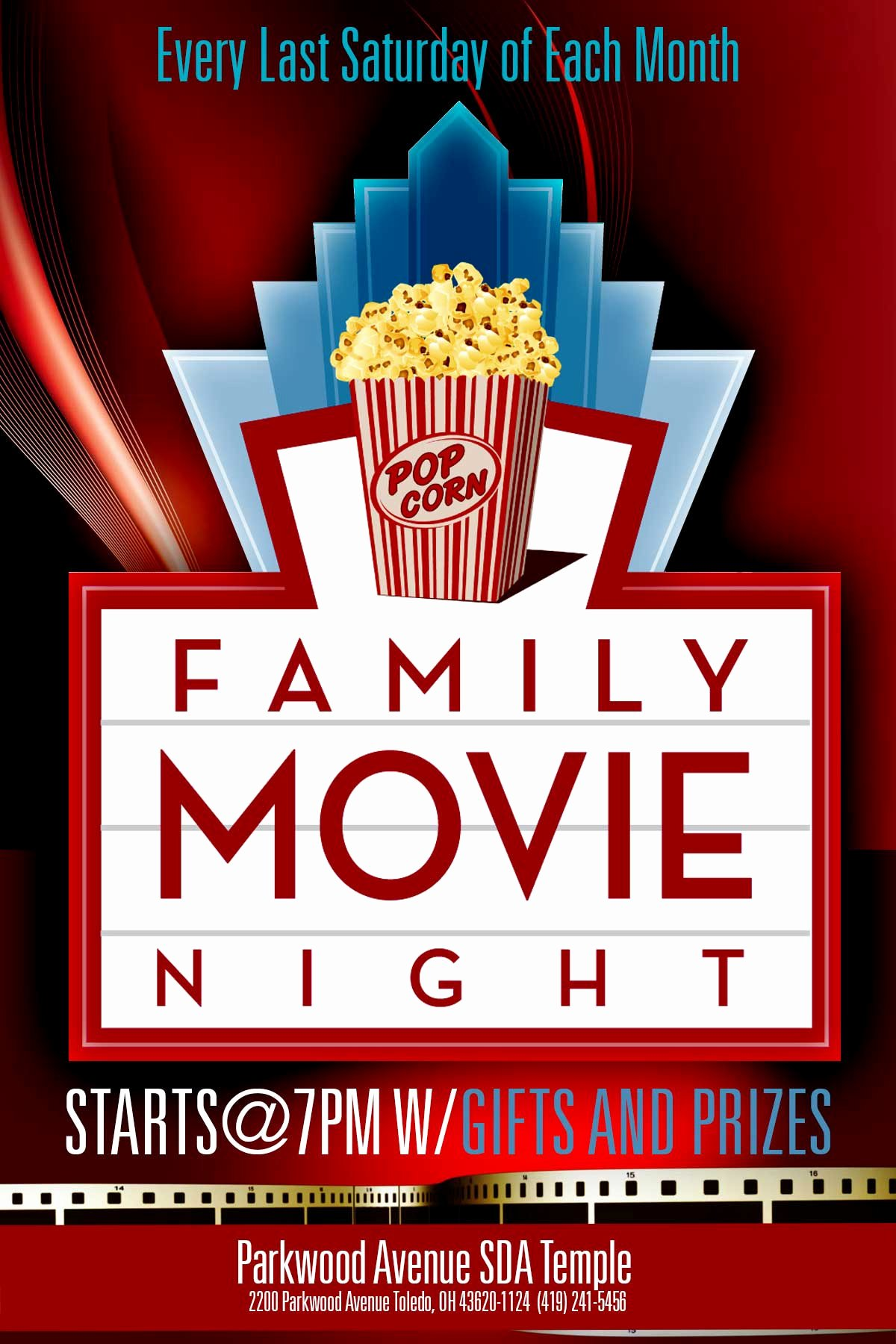 7 Best Of Movie Night Flyer Template Family Movie