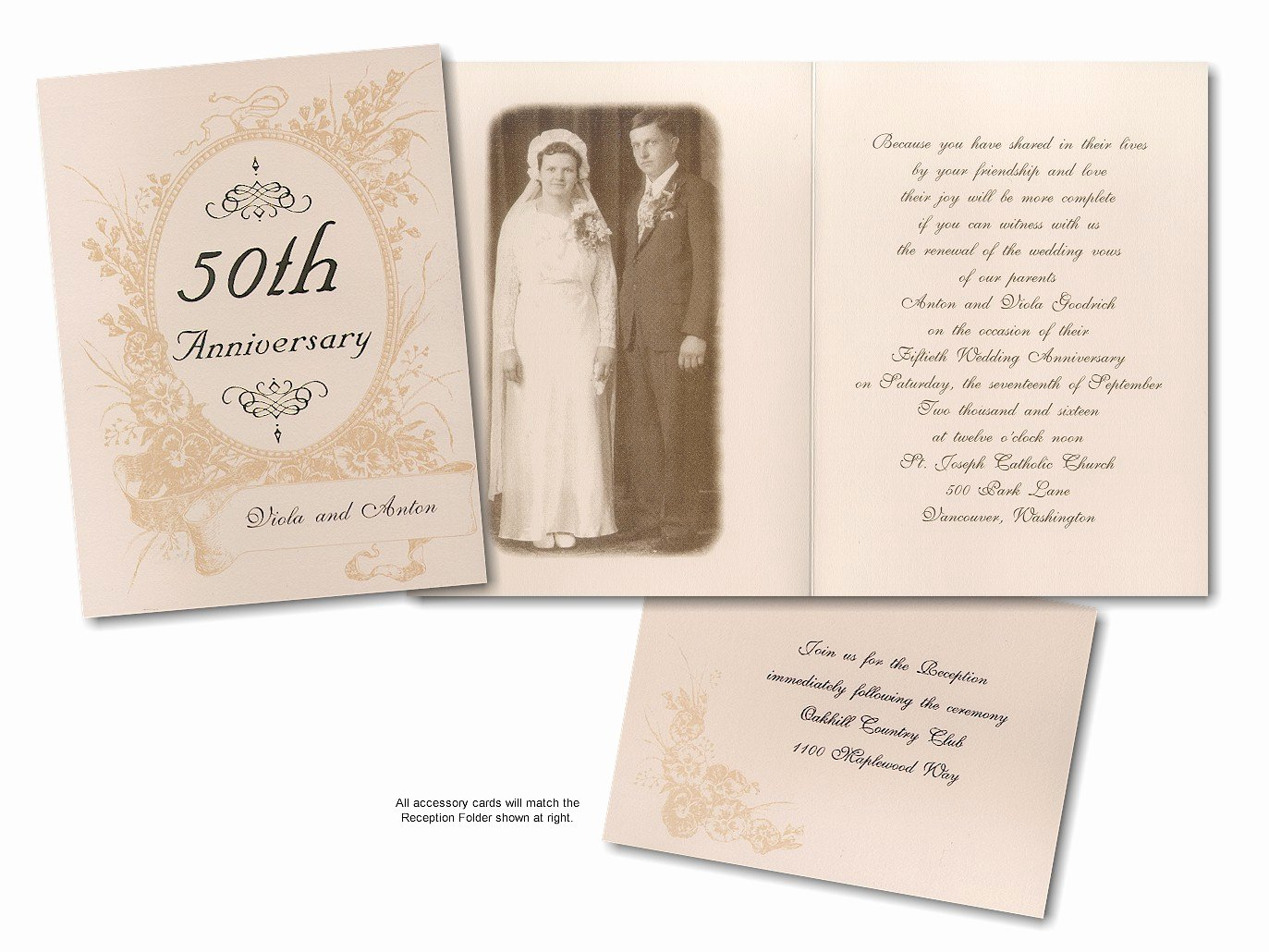 7 Best Of Printable 50th Anniversary Invitations