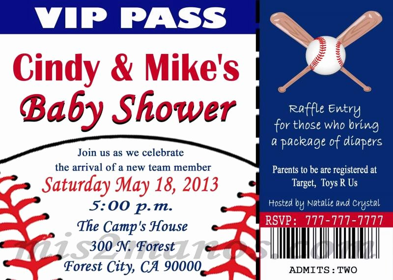 7 Best Of Printable Baseball Invitations Free
