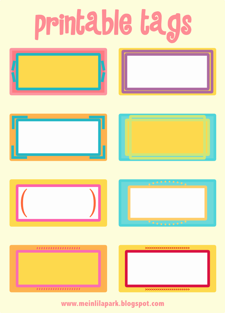 7 Best Of Printable Blank Name Tags Free