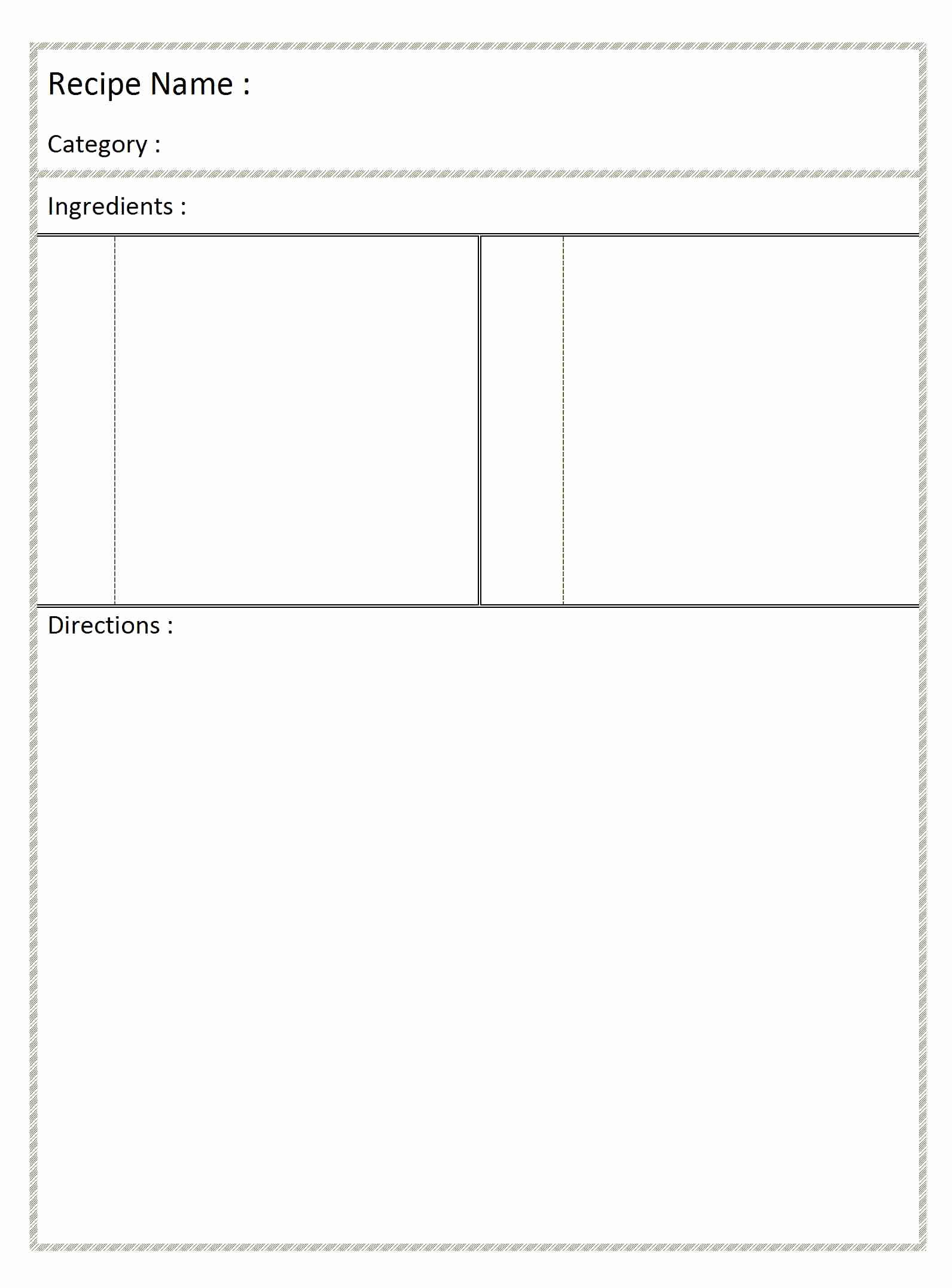 post printable blank recipe templates