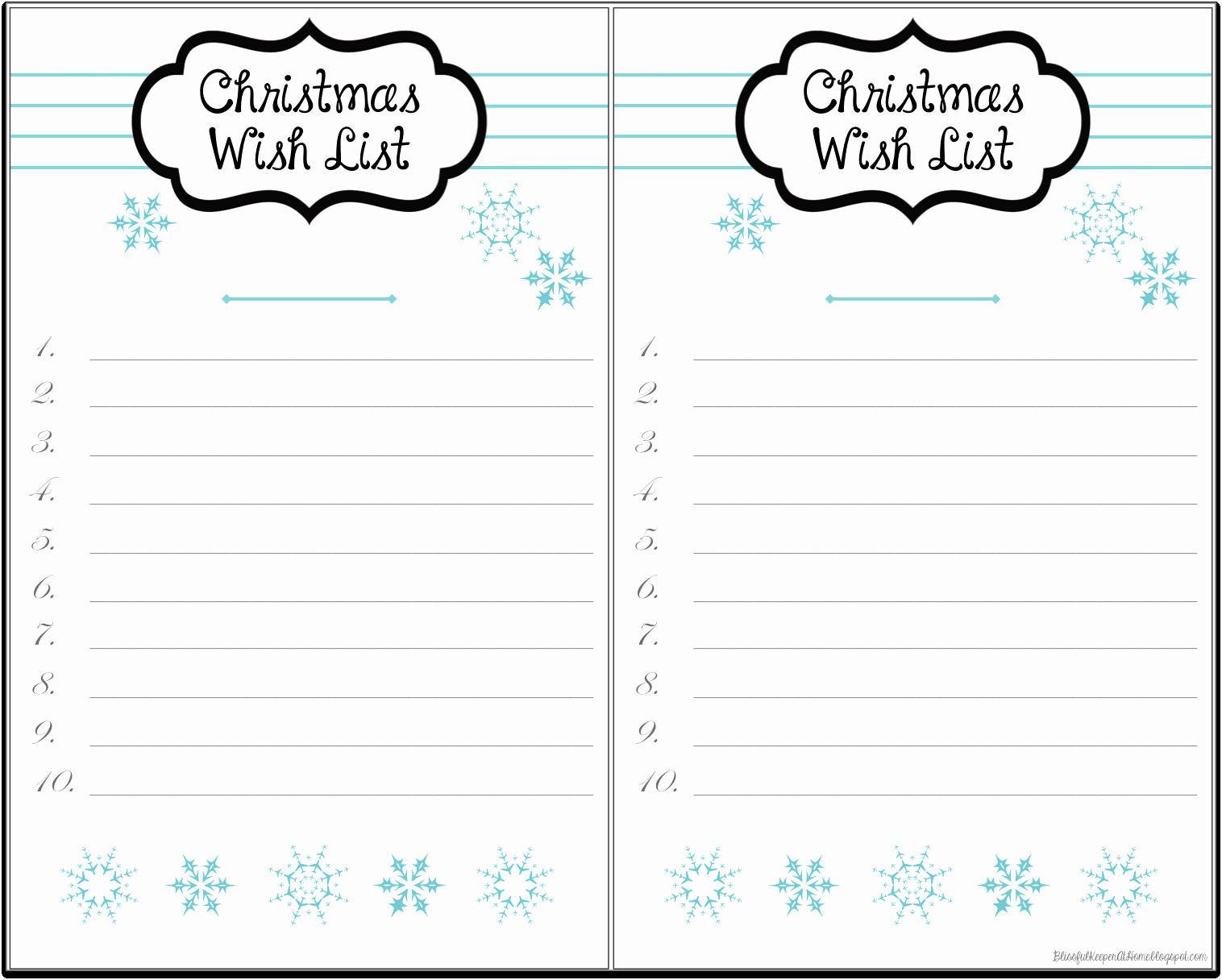7 Best Of Printable Christmas Wish List Template