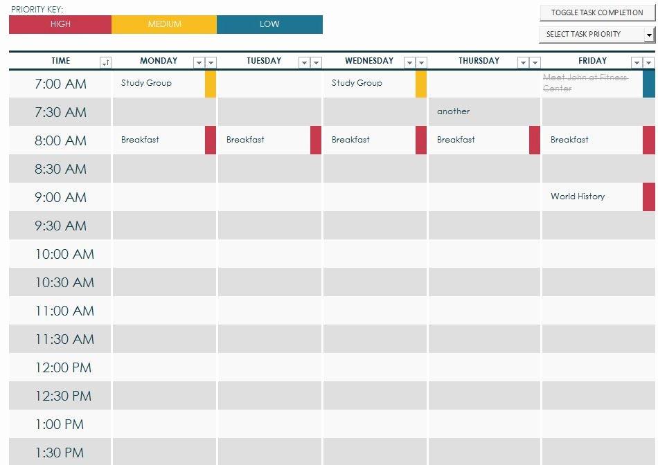 7 Best Of Printable Class Schedule Maker Class