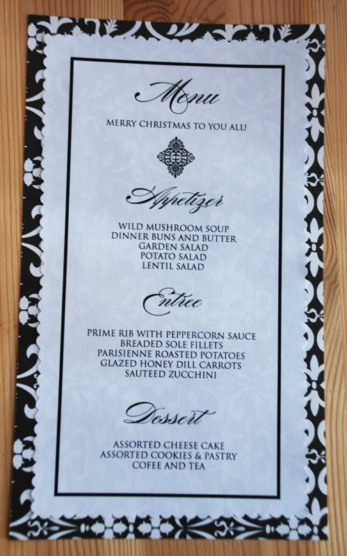 post printable dinner party menu templates