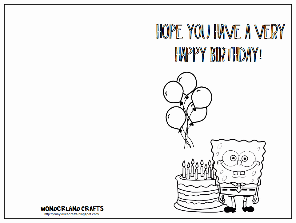 7 Best Of Printable Folding Birthday Cards for Kids