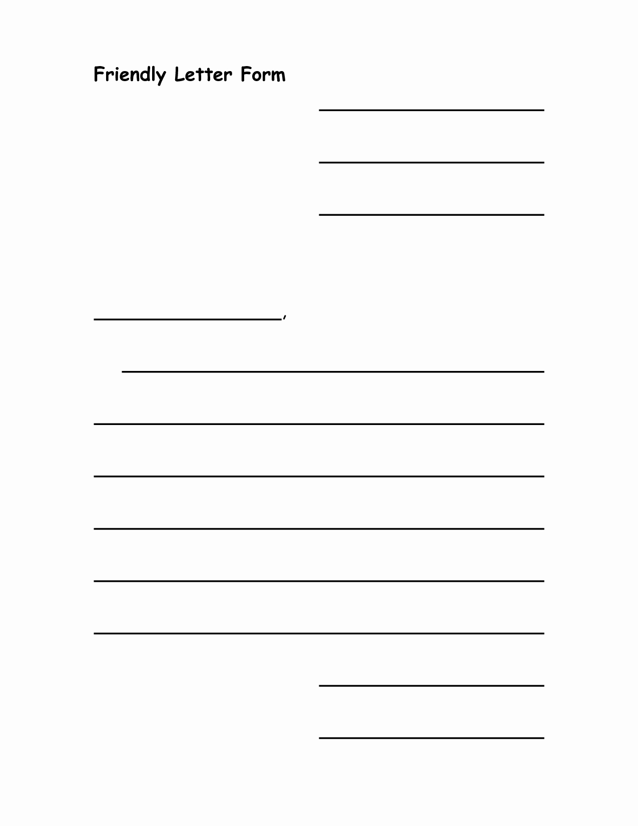 7 Best Of Printable Friendly Letter Writing