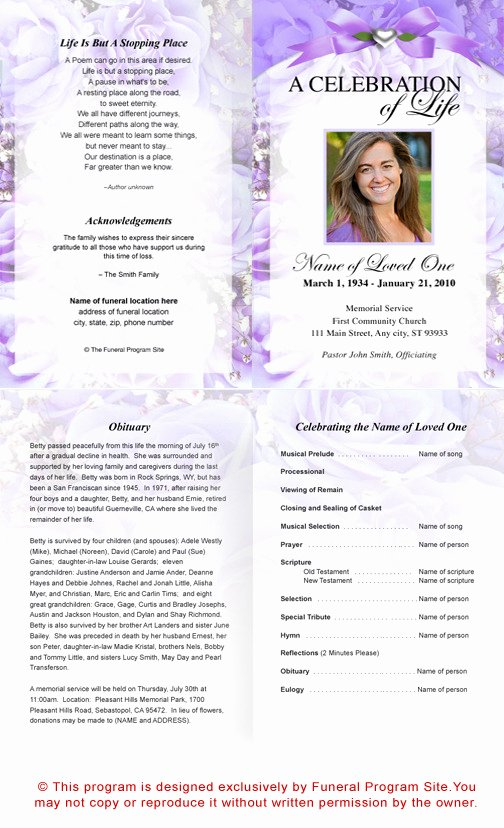 7 Best Of Printable Funeral Program Templates