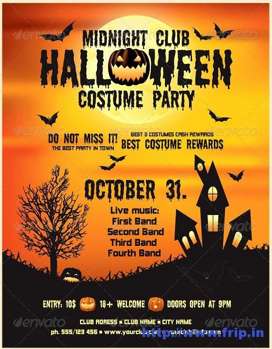 7 Best Of Printable Halloween Flyer Templates