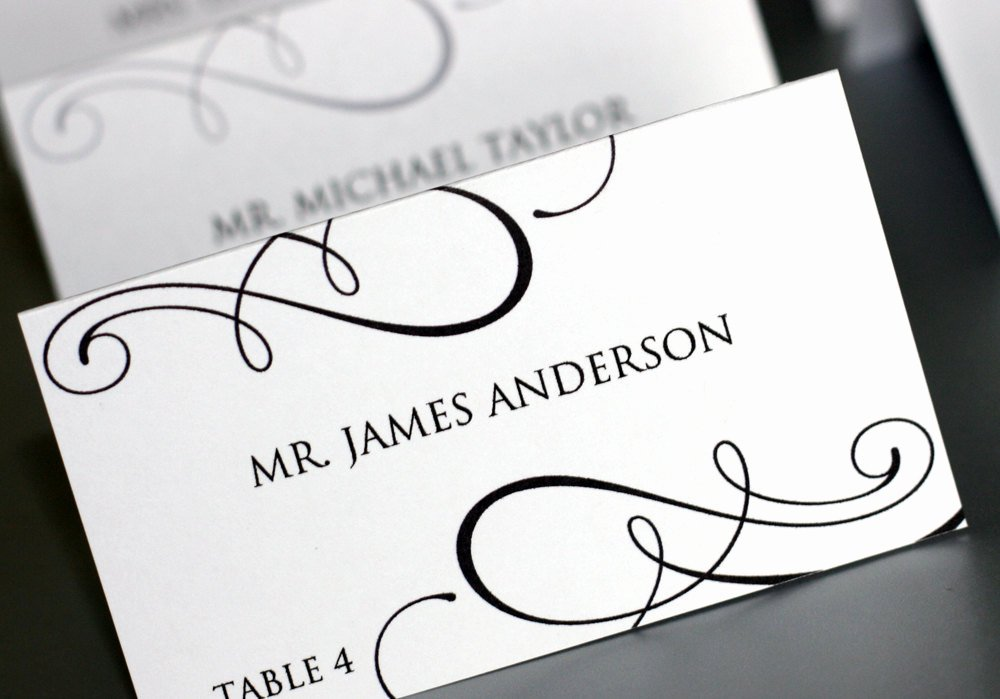 7 Best Of Printable Place Card Template Wedding