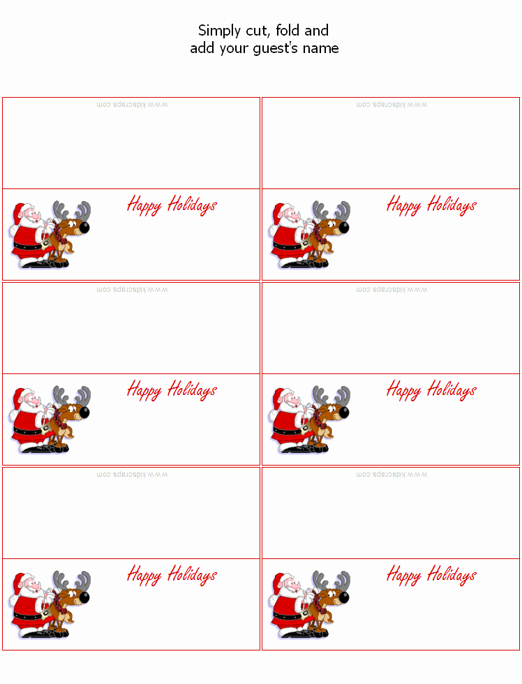 7 Best Of Printable Placecards Templates Free