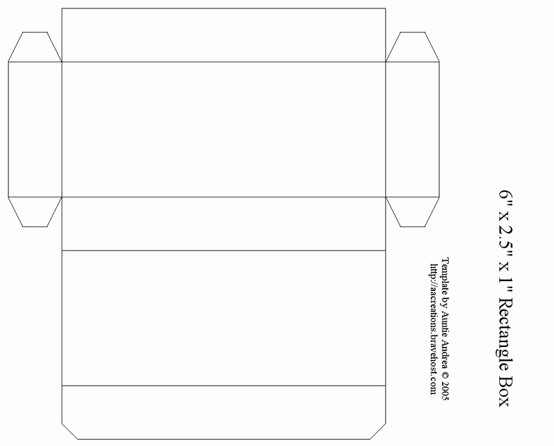 7 Best Of Printable Rectangle Box Rectangle Box