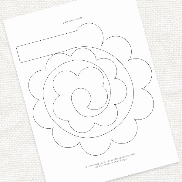 7 Best Of Printable Templates Paper Flower Paper