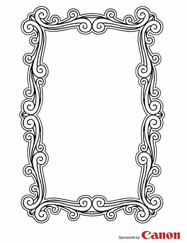 7 Best Of Printable to Color Picture Frames Frame