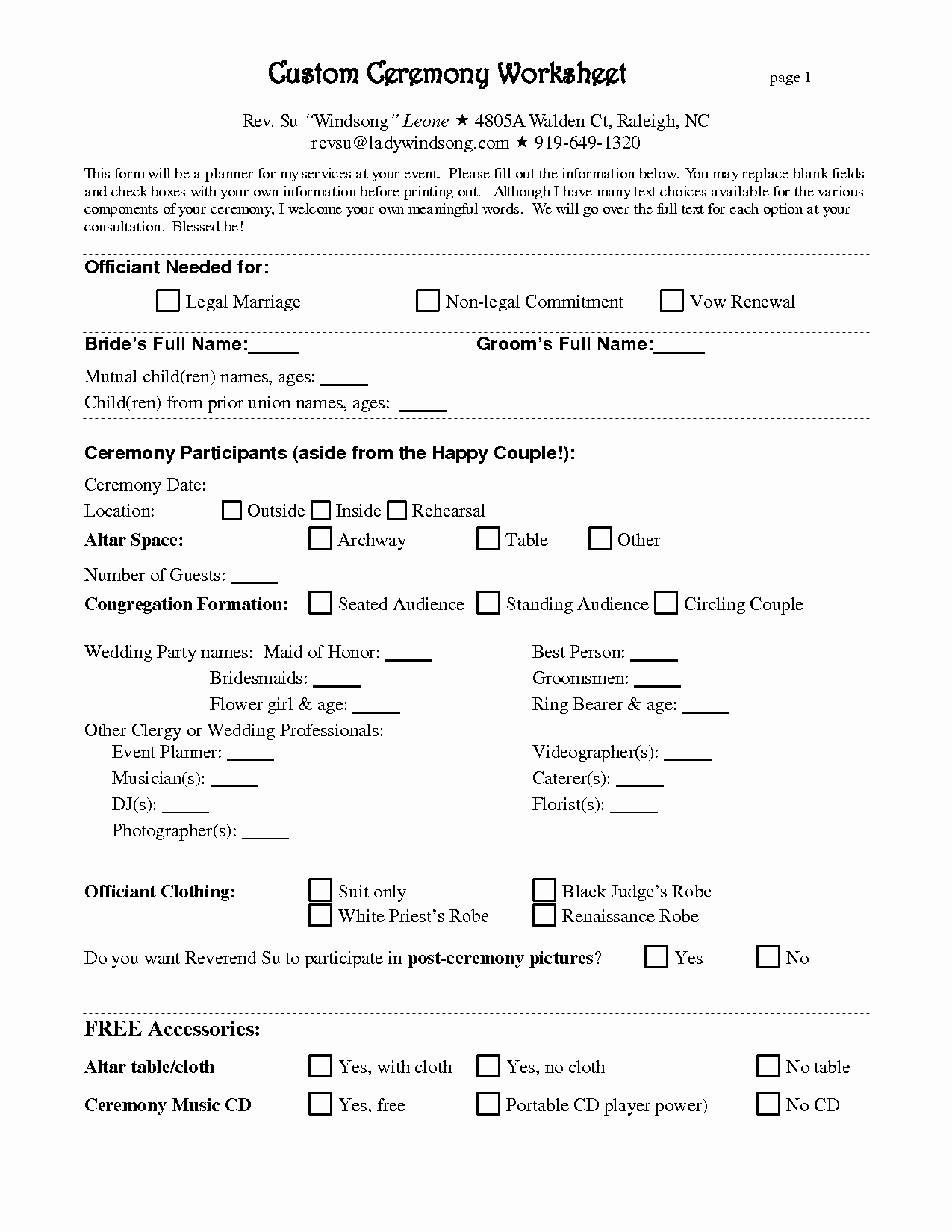 7 Best Of Printable Wedding Planner Contract