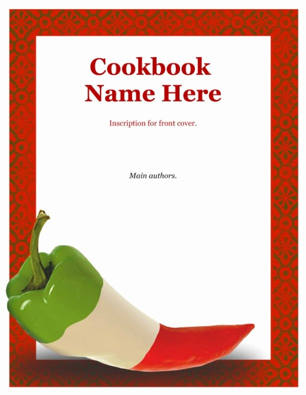 7 Best Of Recipe Book Cover Template Free Recipe