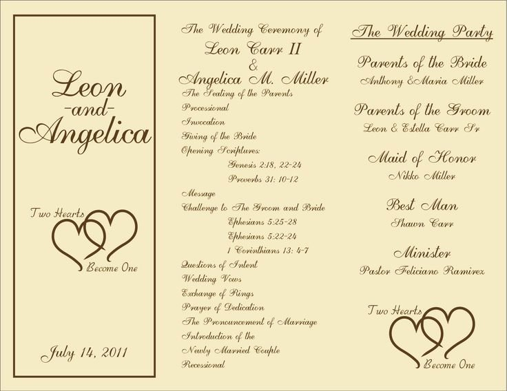 7 Best Of Rustic Wedding Ceremony Program Template