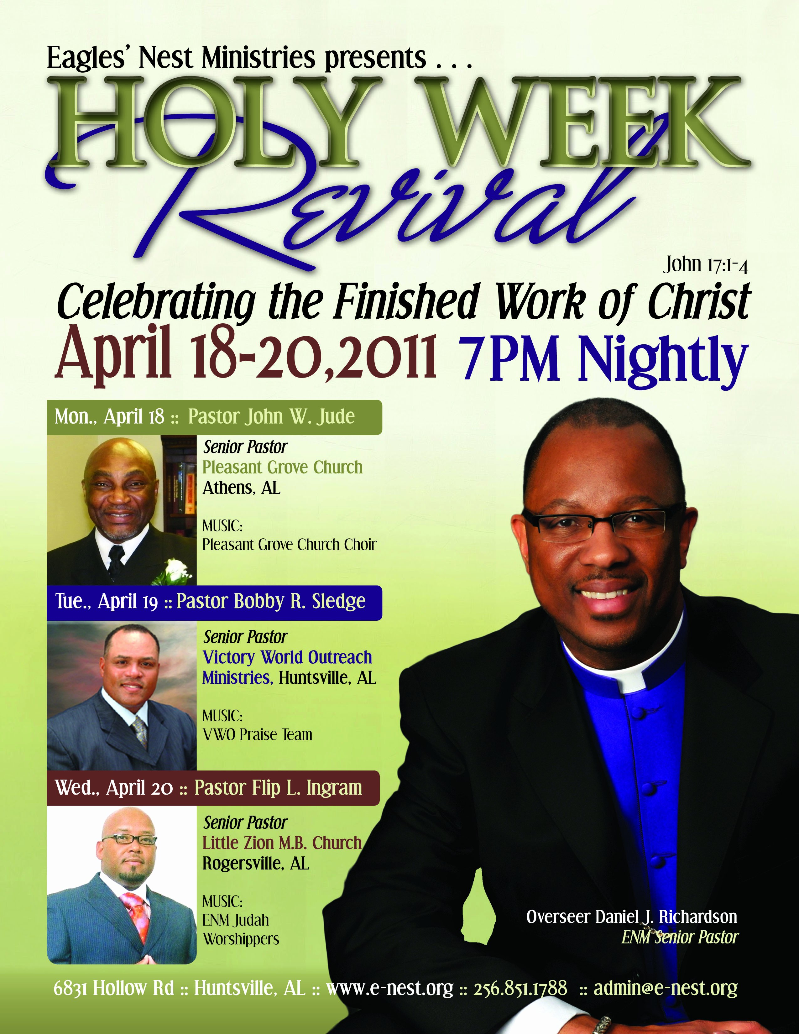 7 Best Of Sample Revival Flyers Free Church