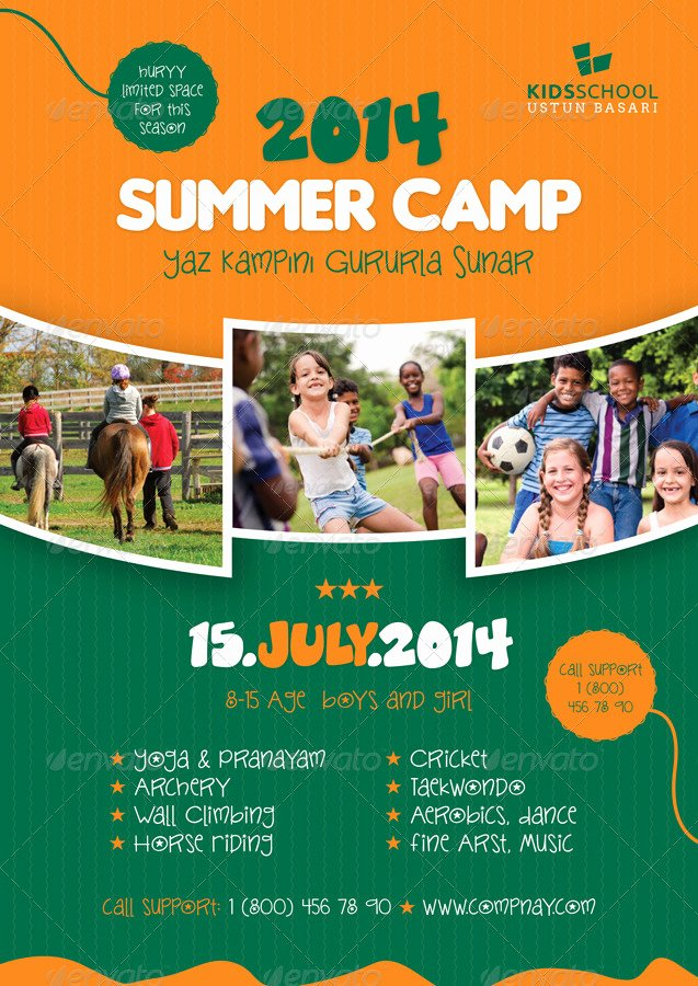 7 Best Of Summer Camp Template Free Summer Camp