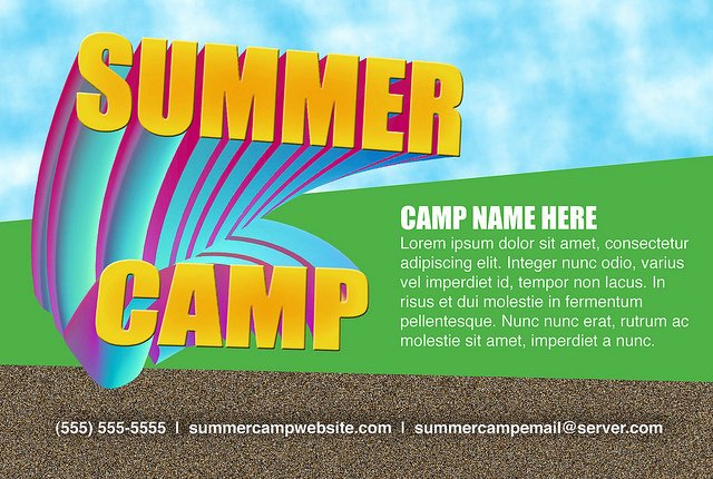 post summer camp template