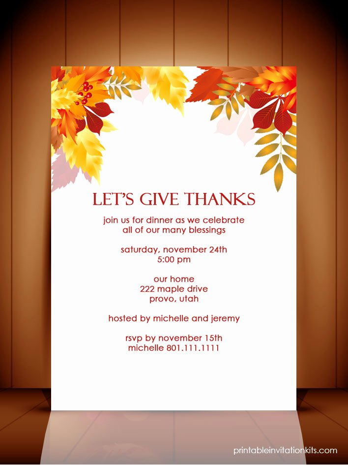 7 Best Of Thanksgiving Dinner Invitation Templates
