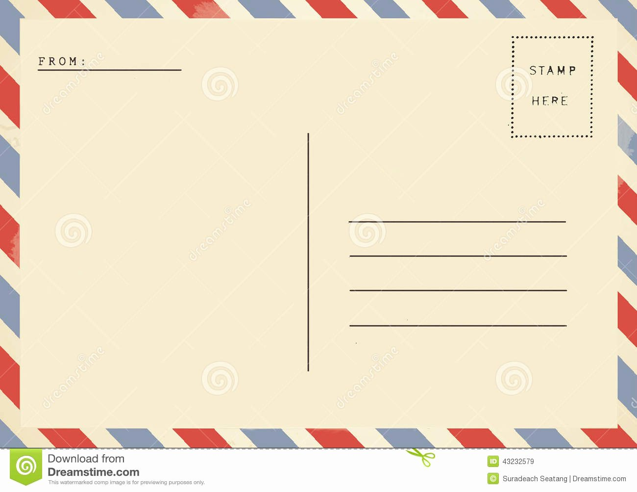 7 Best Of Vintage Blank Postcard Template Vintage