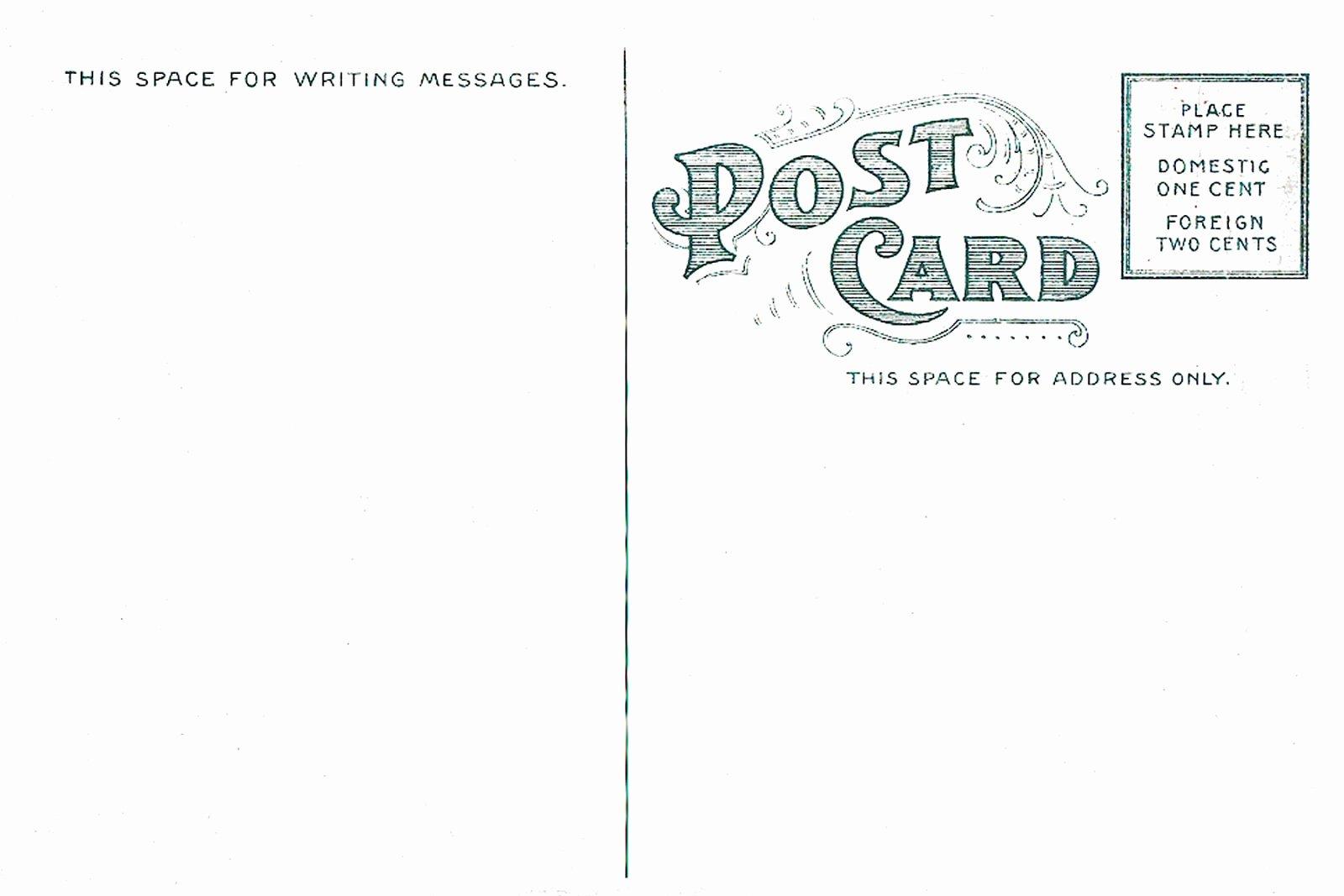 7 Best Of Vintage Postcard Template Vintage