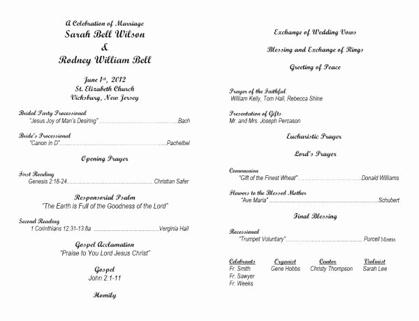 7 Best Of Wedding Anniversary Program Template