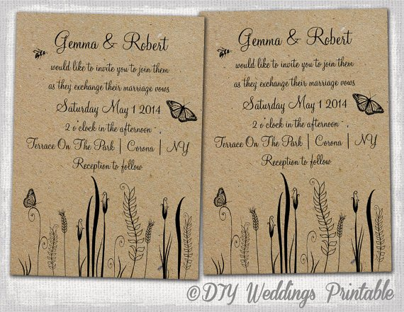7 Best Of Wedding Invitation Templates Word