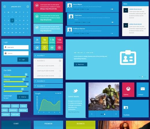 7 Best Ui Kits Responsive Mobile Web Templates Images On