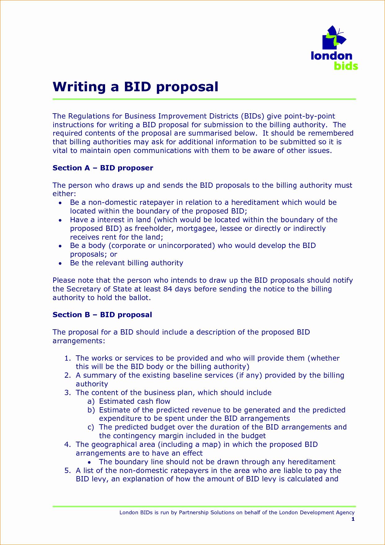 7 Bid Proposal Template