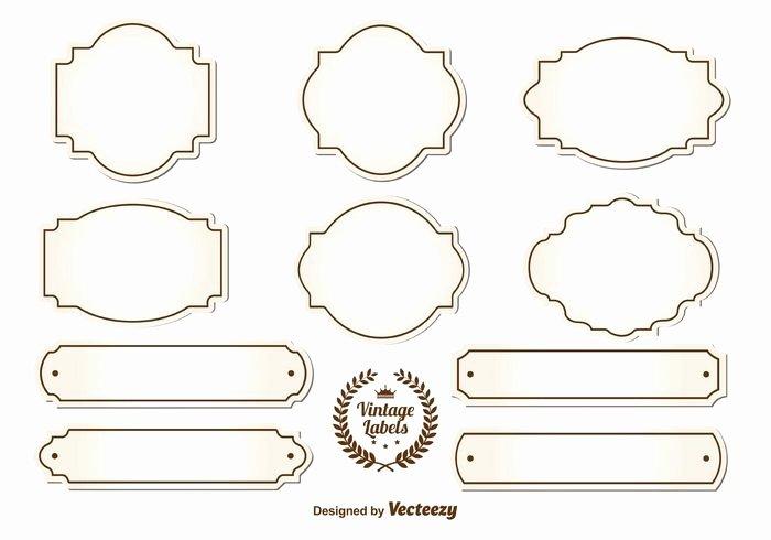 7 Blank Vintage Label Vector Free Printable Blank