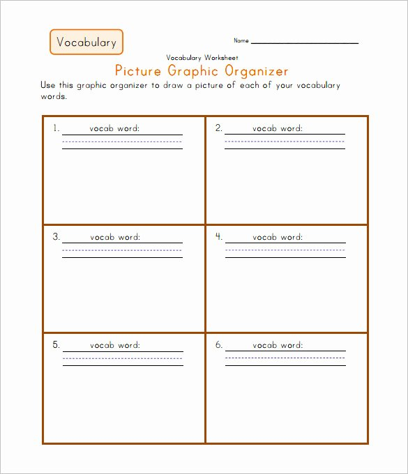 7 Blank Vocabulary Worksheet Templates Word Pdf – Latter