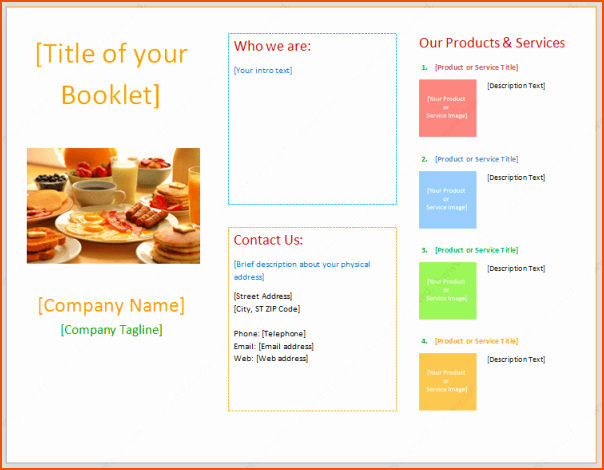 7 Booklet Template Microsoft Word Bookletemplate