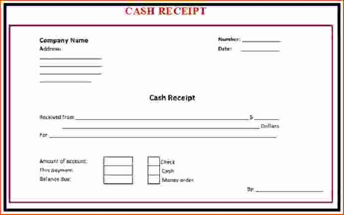 7 Cash Receipt Template Word Bookletemplate