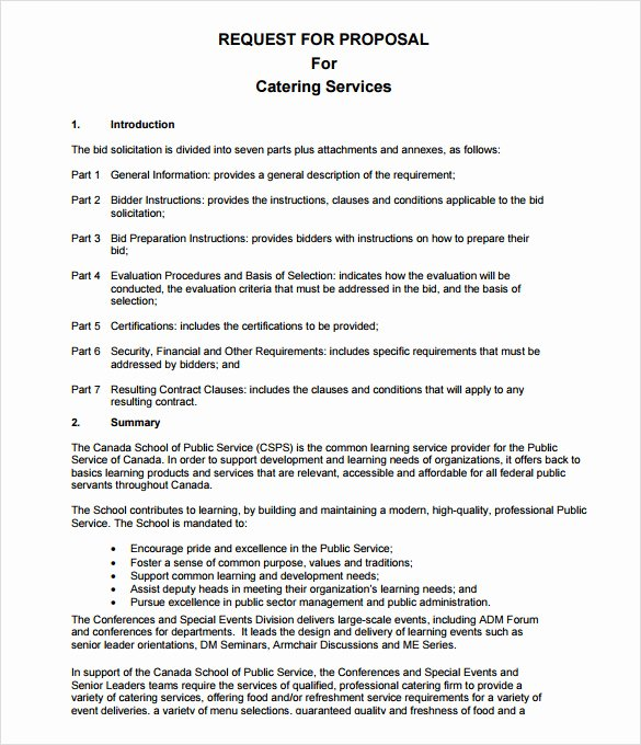 7 Catering Proposal Samples