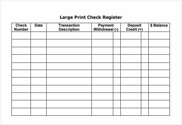 7 Check Register Samples