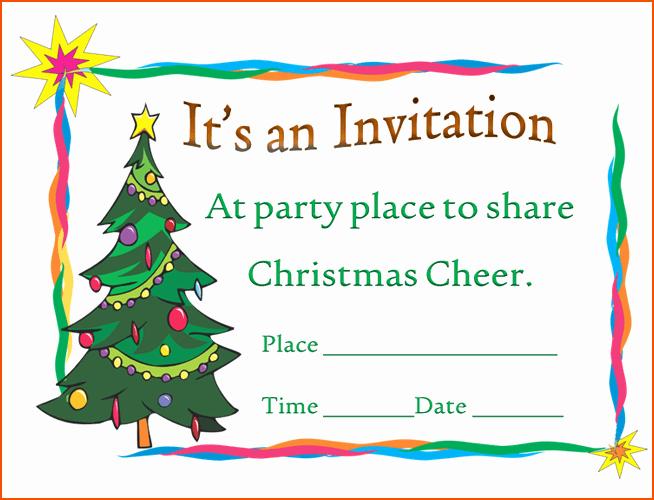 7 Christmas Invitation Template Bookletemplate