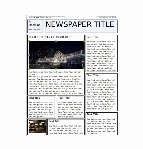 7 Classroom Newspaper Templates Free Sample Example