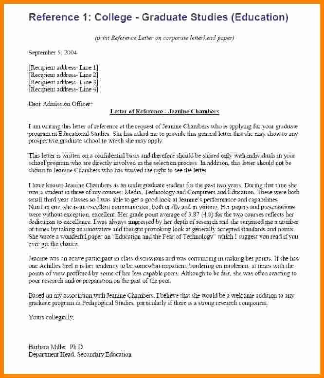 7 College Re Mendation Letter Examples