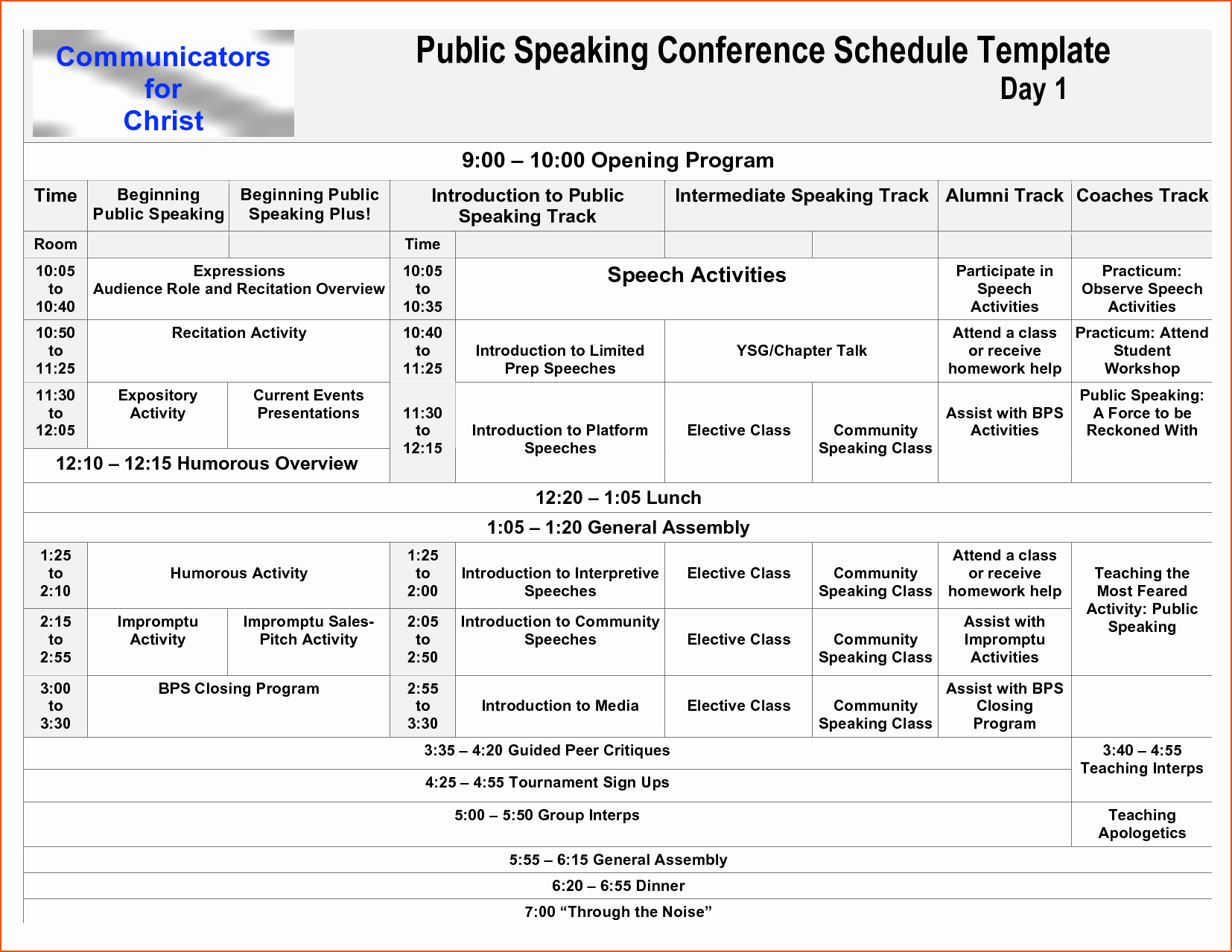 7 Conference Program Template Bookletemplate