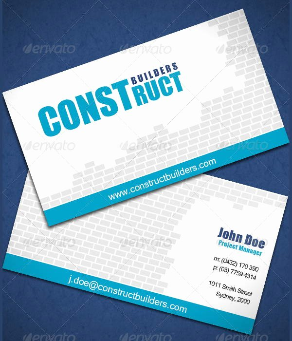 7 Construction Business Cards Psd Eps